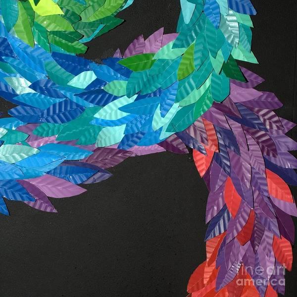 Paper Sculpture Art Print featuring the sculpture Detail - Kukulkan by Mitza Hurst