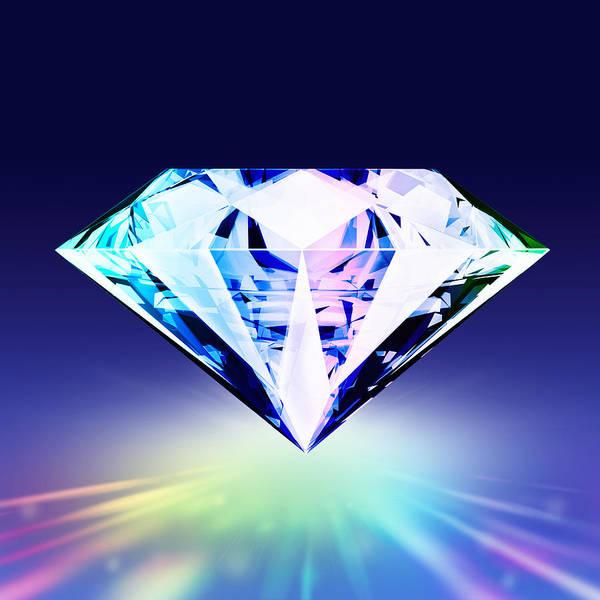 Background Art Print featuring the jewelry Diamond by Setsiri Silapasuwanchai