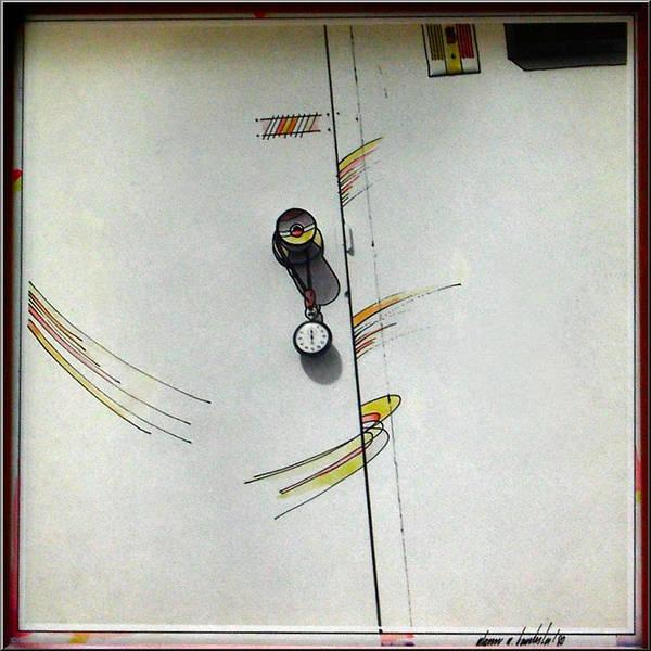 Slam Art Print featuring the mixed media Door 1980 by Glenn Bautista