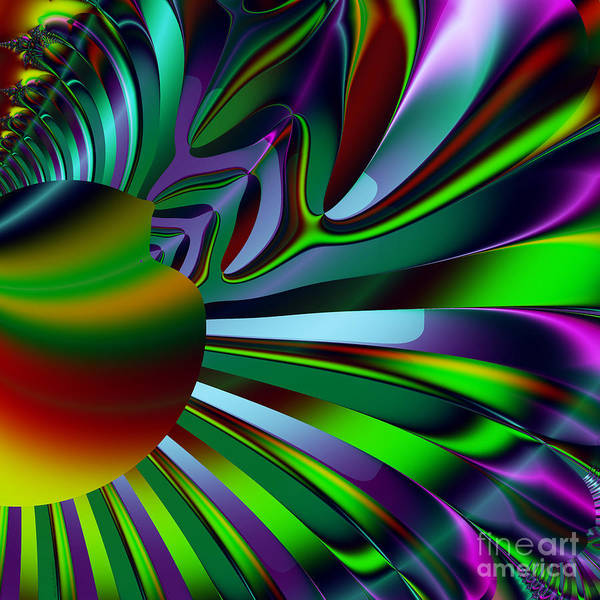 Fractal Art Print featuring the digital art Eichler Is Lost . Square . S9 by Wingsdomain Art and Photography