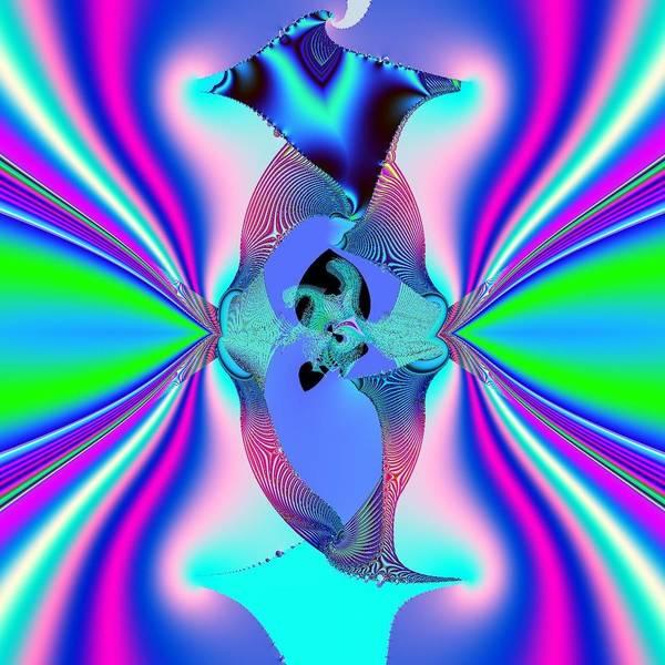 Buddha Art Print featuring the digital art Energy Spirit Ora Orbs by Deborah Juodaitis