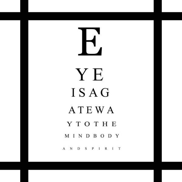 Eye Chart Art Print By Jessica Rost