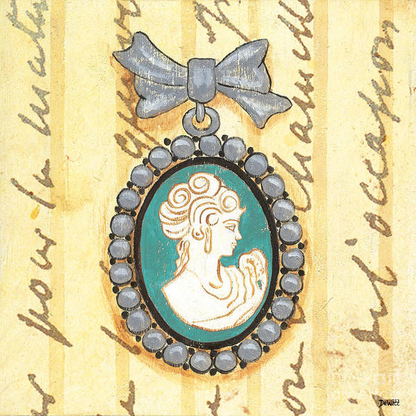 Cameo Art Print featuring the painting French Cameo 1 by Debbie DeWitt