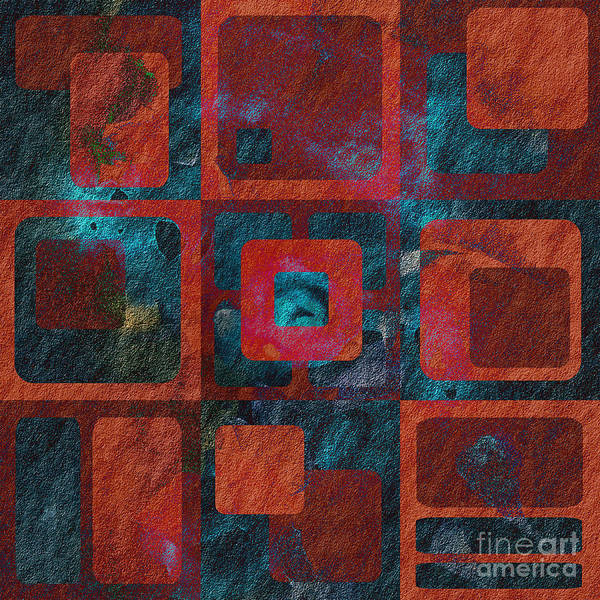 Abstract Print featuring the digital art Geomix 02 - Sp07c03b by Variance Collections