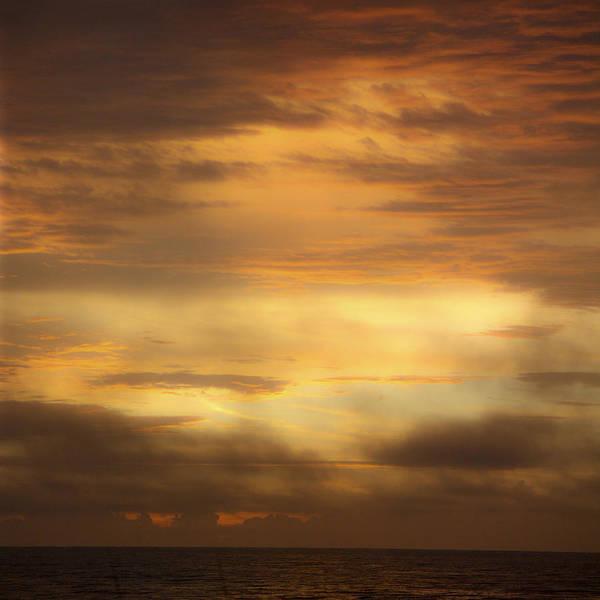 Sunrise Art Print featuring the photograph Golden Sunrise Squared by Teresa Mucha