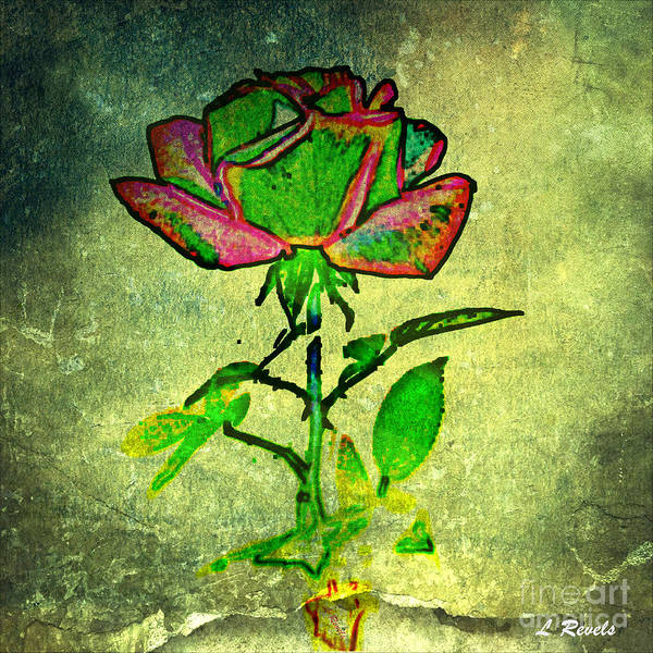 Flower Art Print featuring the photograph Green Rose by Leslie Revels