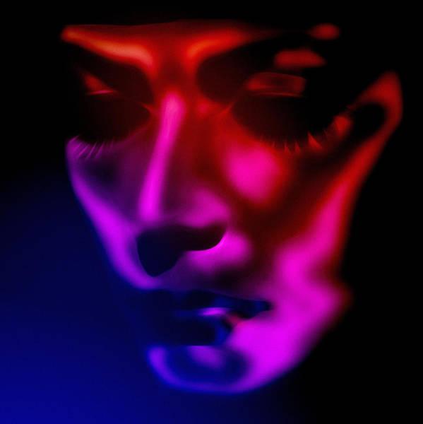 Greta Garbo Modern Digital Painting Pop Art Golden Twenties 20s Silent Hollywood Art Print featuring the painting Greta by Steve K
