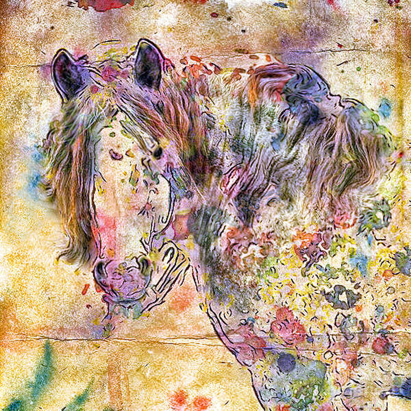 Horses Art Print featuring the digital art Gypsy Babe by Marilyn Sholin
