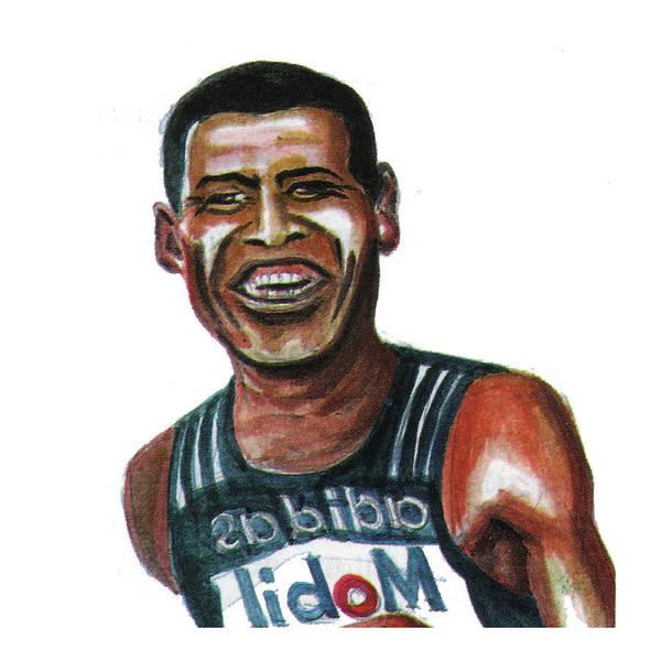 Portraits Art Print featuring the painting Haile Gebreselassie by Emmanuel Baliyanga