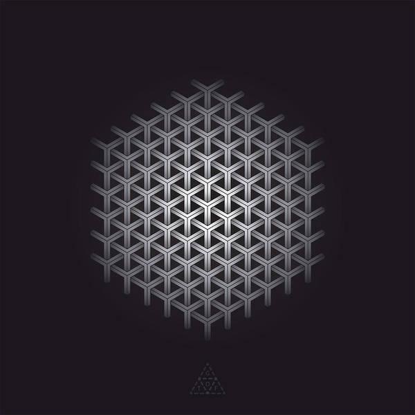 Hexagon Art Print featuring the digital art Hexagon Matrix Optic V16.1 by Guardians of the Future