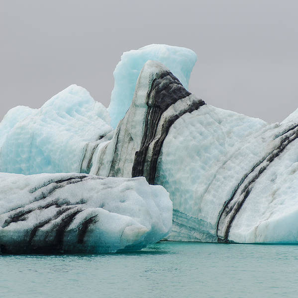 Square Art Print featuring the photograph Icebergs by Enrique Mesa Photography