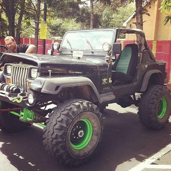 Summer Art Print Featuring The Photograph #jeep #wrangler #cool #car  #convertible