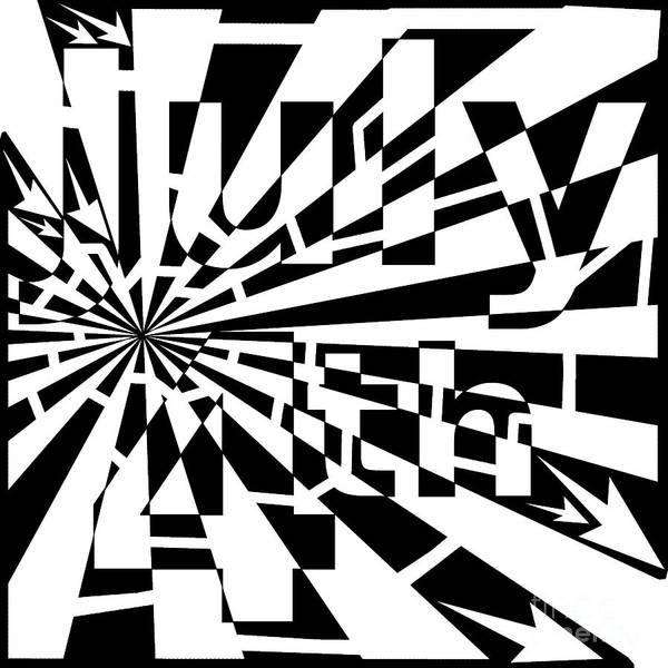 July 4th Maze Art Print featuring the drawing July 4th Maze by Yonatan Frimer Maze Artist
