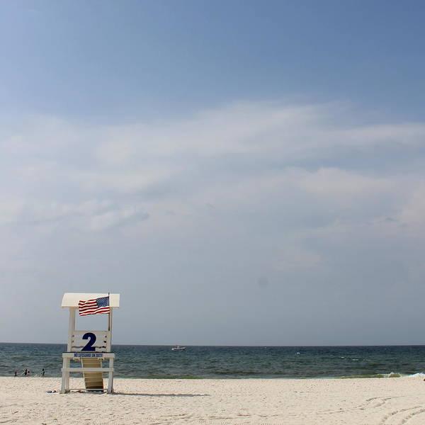 Beach Art Print featuring the photograph Lifeguard 2 by Eric Ward