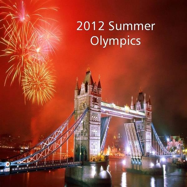 Olympics Art Print featuring the photograph London Bridge 2012 Olympics by Florene Welebny