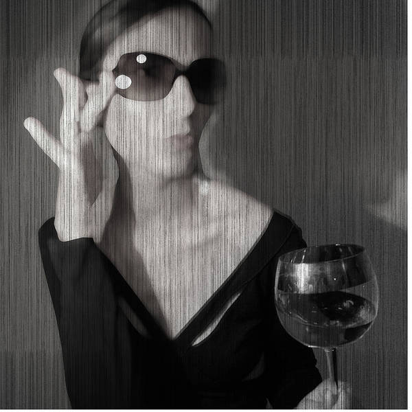 Woman Art Print featuring the photograph Loren With Wine by Naxart Studio
