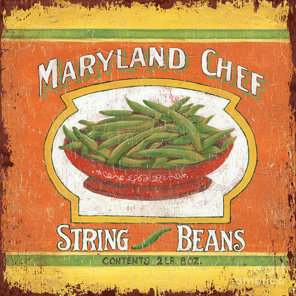 Kitchen Art Print featuring the painting Maryland Chef Beans by Debbie DeWitt