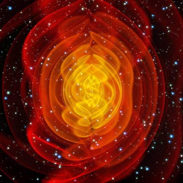 Black Hole Art Print featuring the photograph Merged Black Holes by Chris Henzenasa