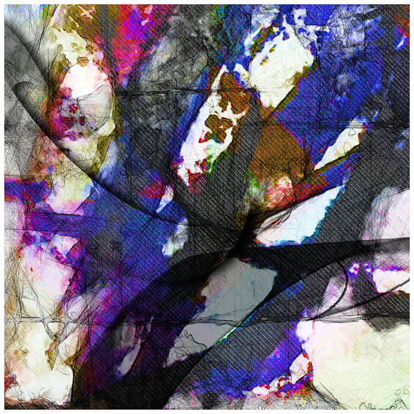 Abstract Art Print featuring the digital art Miro Fish 2 by Scott Smith