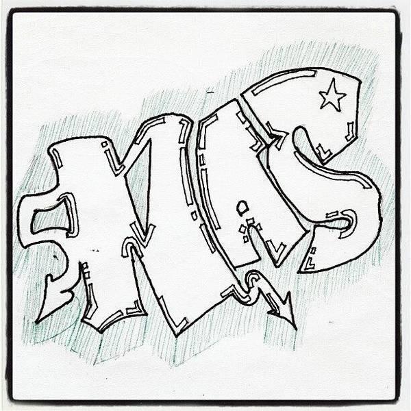 my drawing art graffiti doodle art print by paul petey