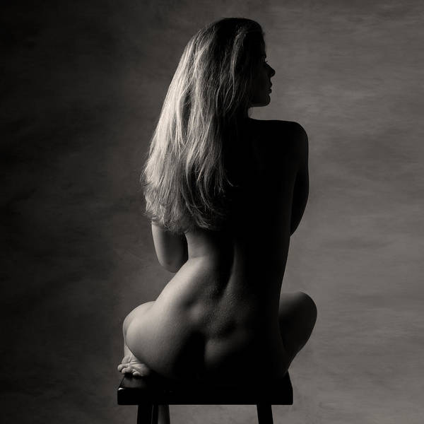 Female Art Print featuring the photograph Nude #1091 by Robert Tolchin