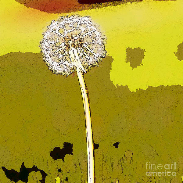 Dandelion Art Print featuring the painting One Day Your Wish Will Come True by Artist and Photographer Laura Wrede