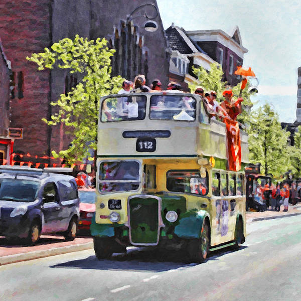 Stock Art Print featuring the digital art Party Bus by Martin Fry
