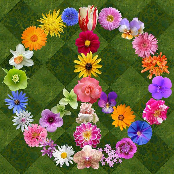 Peace Sign Flowers Art Print By Susan Ragsdale