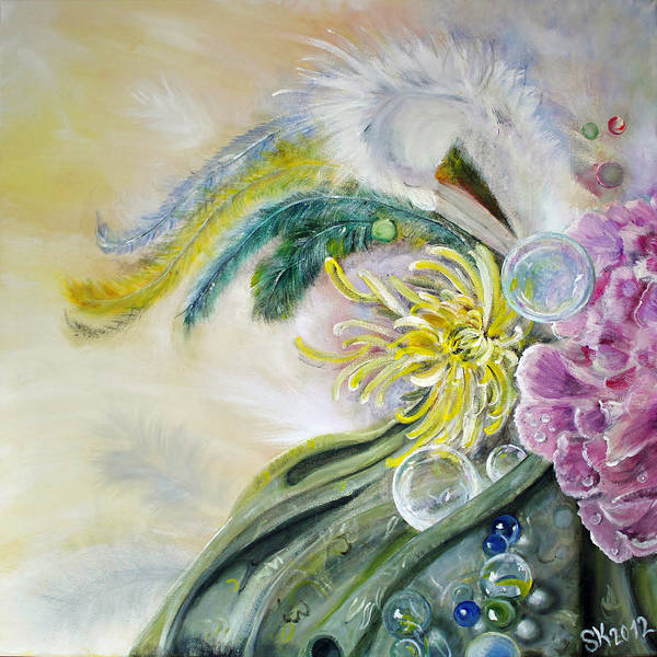 Feathers Art Print featuring the painting Phantasia by Stephanie Koehl