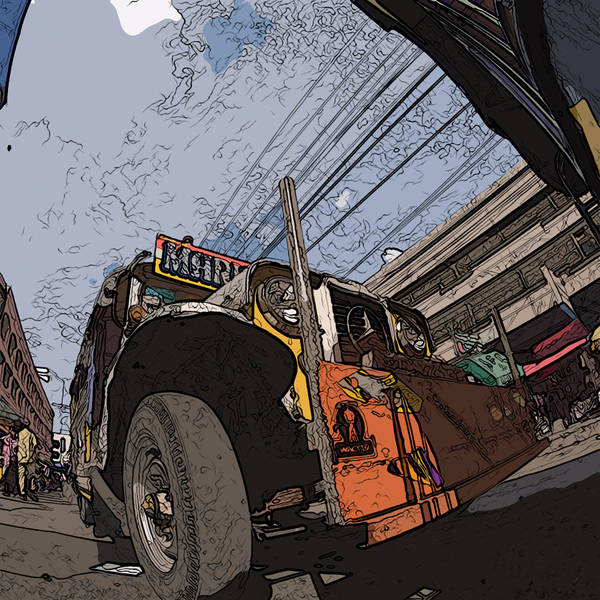 Philippines Art Print featuring the painting Philippines 1292 Jeepney by Rolf Bertram