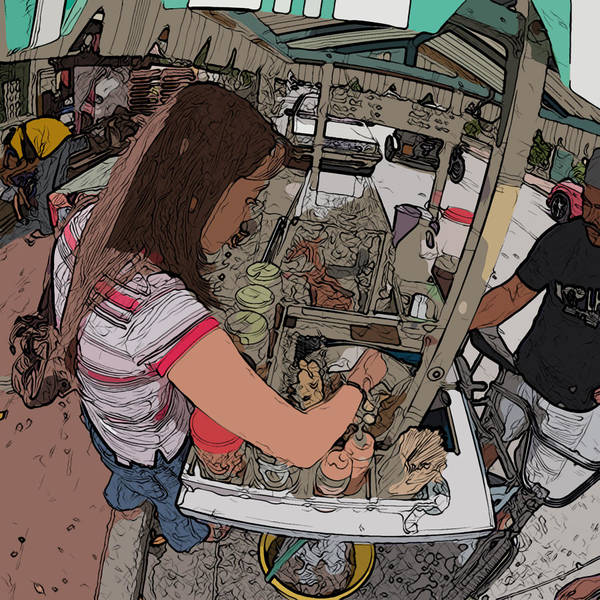 Philippines Art Print featuring the painting Philippines 91 Street Food by Rolf Bertram