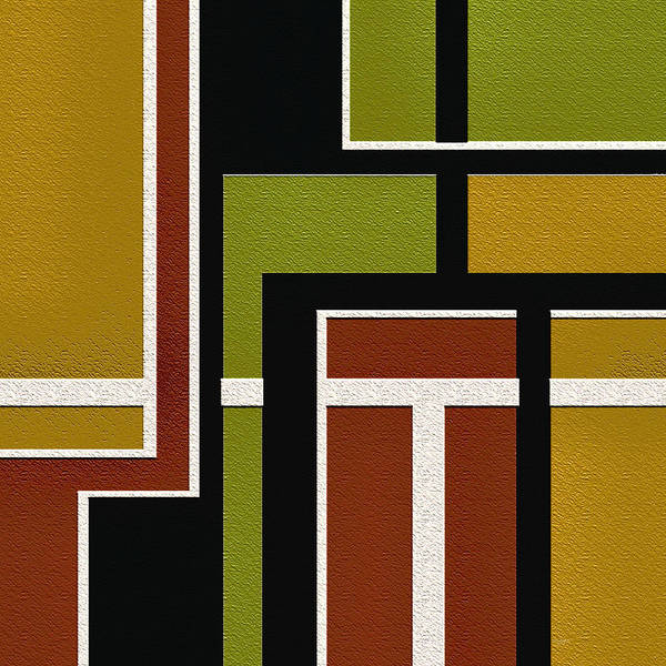 Abstract Art Print featuring the painting Pipeline by Ely Arsha