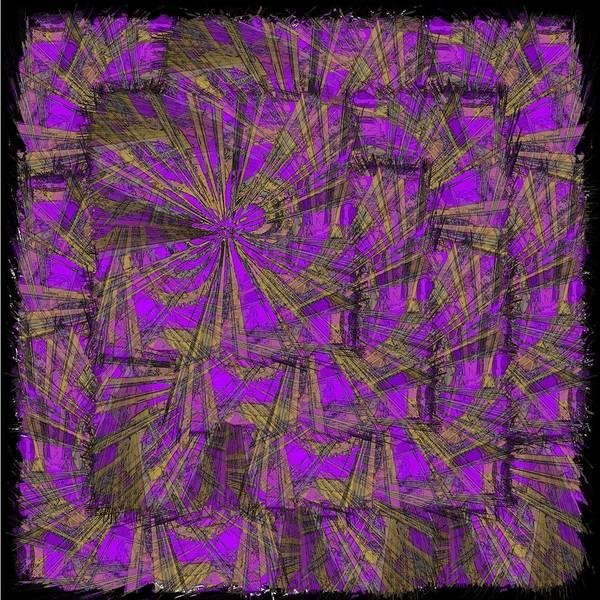 Abstract Art Print featuring the digital art Purple Green Turmoil by Tim Allen