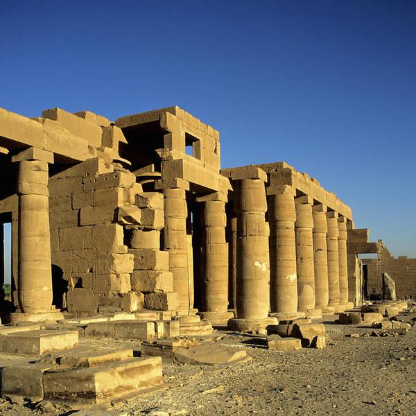Square Art Print featuring the photograph Ramesseum Temple, Luxor, Egypt by Hisham Ibrahim