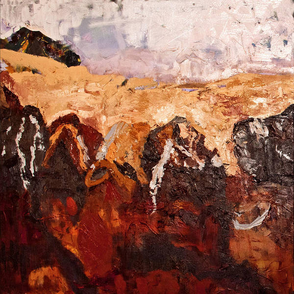 Australian Landscape Art Print featuring the painting Red Heart by Gaye White