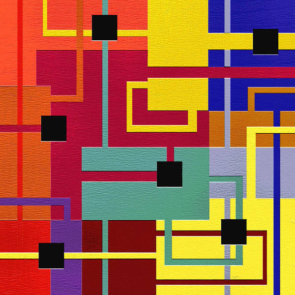 Abstract Art Print featuring the painting Risky by Ely Arsha