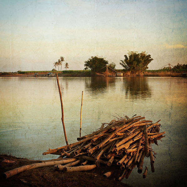 Cambodia Art Print featuring the photograph Riverbank by Stefan Nielsen