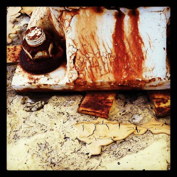 Rust Art Print featuring the photograph Rusty Bolt Abstraction by Anna Villarreal Garbis