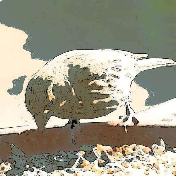 Bird Art Print featuring the digital art Spring Bird by Artist and Photographer Laura Wrede