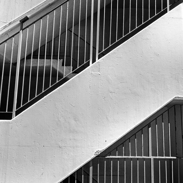 Bars Art Print featuring the photograph Stairwell #2 by Trever Miller
