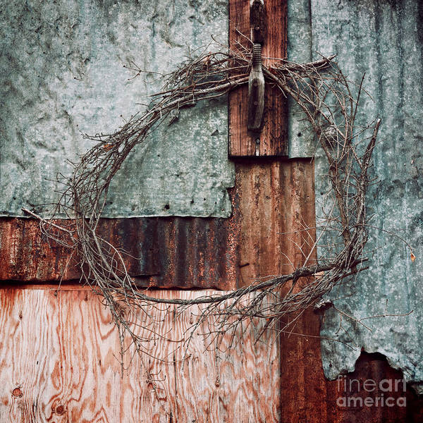 Whreat Art Print featuring the photograph Still Decorated With A Wreath by Priska Wettstein