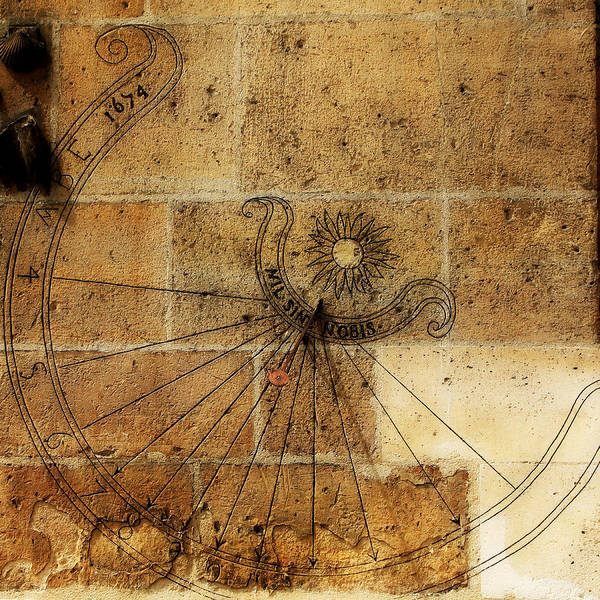 Paris Art Print featuring the photograph Sundial 1 by Andrew Fare