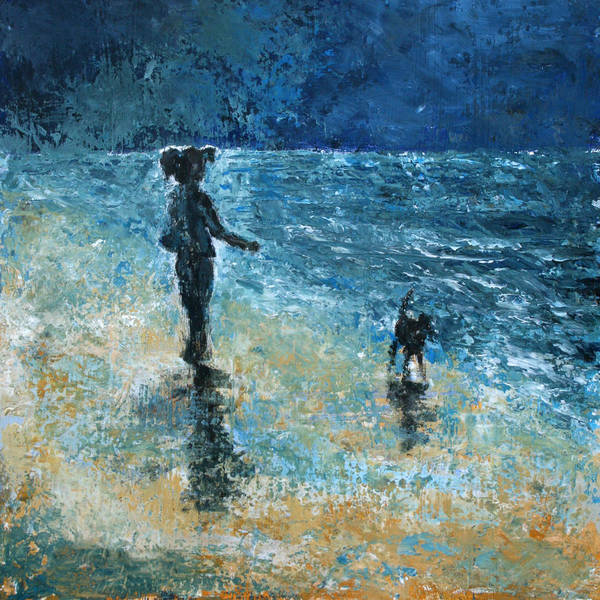 Beach Art Print featuring the painting The New Pet by Graham Brock