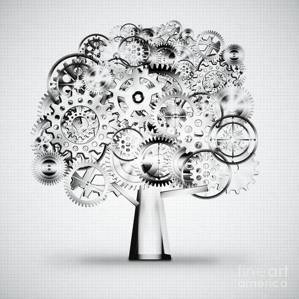 Art Art Print featuring the photograph Tree Of Industrial by Setsiri Silapasuwanchai