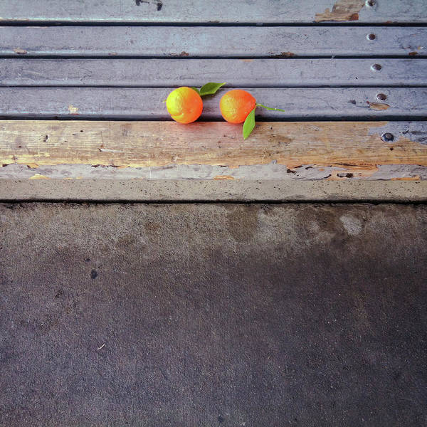 Square Art Print featuring the photograph Two Tangerines by Sarah Palmer