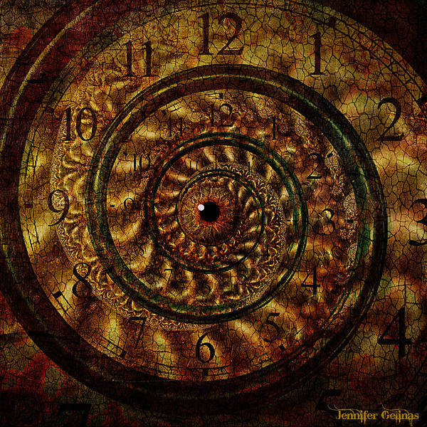 Clock Art Print featuring the digital art We Are Eternal by Jennifer Gelinas