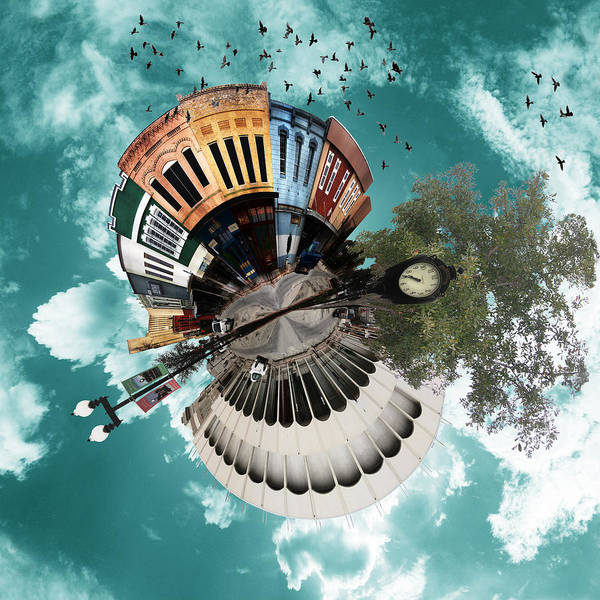 Wee Planet Art Print featuring the photograph Wee Downtown Bryan by Nikki Marie Smith