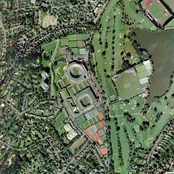 Wimbledon Art Print featuring the photograph Wimbledon Tennis Complex, Uk by Getmapping Plc