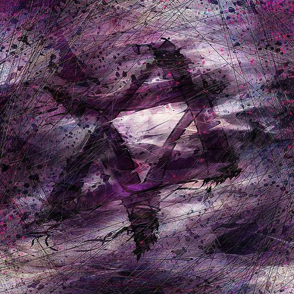 Abstract Art Print featuring the digital art . . . When We Remembered Zion by Rachel Christine Nowicki