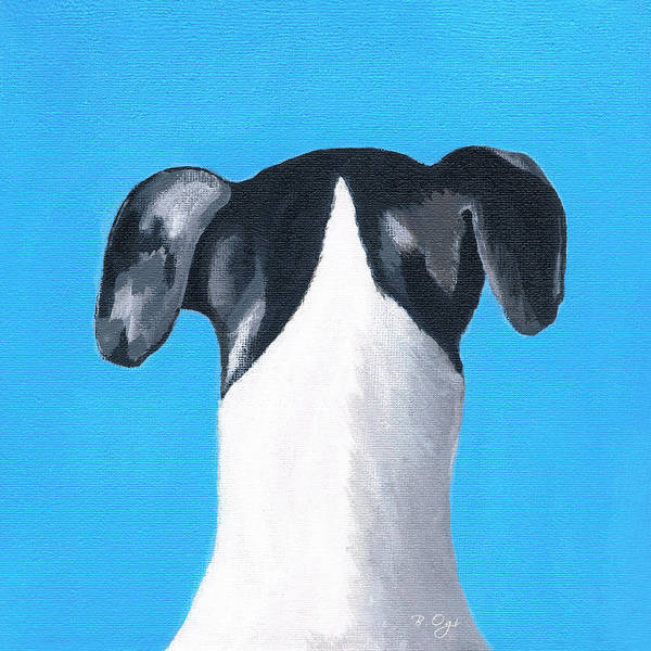 Dog Art Print featuring the painting Billy by Brian Ogi